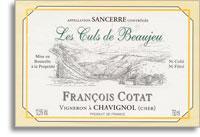 2011 Francois Cotat Sancerre Les Culs De Beaujeu