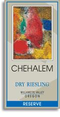 2010 Chehalem Dry Riesling Reserve Willamette Valley