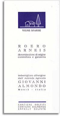 2012 Giovanni Almondo Arneis Vigne Sparse Roero