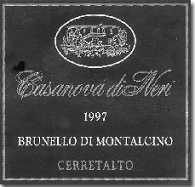 2007 Casanova Di Neri Brunello Di Montalcino Cerretalto Riserva