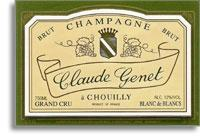 NV Claude Genet Blanc De Blancs Chouilly Grand Cru Brut