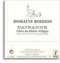 2012 Domaine Boisson Cotes Du Rhone Village Cairanne