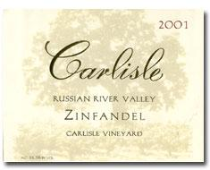 2014 Carlisle Winery Zinfandel Carlisle Vineyard Russian River Valley