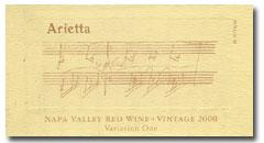 2002 Arietta Variation One Red Wine Napa Valley