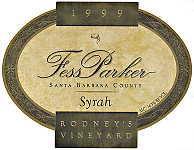 2010 Fess Parker Winery Syrah Rodney's Vineyard Santa Barbara County