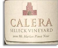 2012 Calera Wine Company Pinot Noir Selleck Vineyard Mt. Harlan