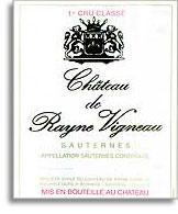 2007 Chateau De Rayne Vigneau Sauternes