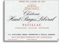 2012 Chateau Haut Bages Liberal Pauillac