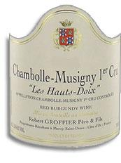 2009 Domaine Robert Groffier Pere & Fils Chambolle Musigny Les Hauts-Doix