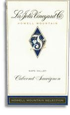 2013 La Jota Vineyard Company Cabernet Sauvignon Howell Mountain