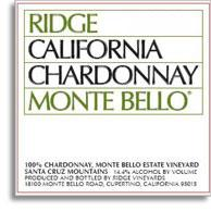 2011 Ridge Vineyards Chardonnay Monte Bello Santa Cruz Mountains