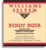 2012 Williams-Selyem Winery Pinot Noir Sonoma County