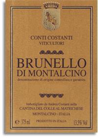 2001 Costanti Brunello Di Montalcino