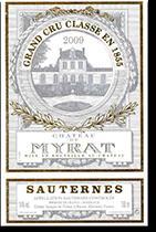 2007 Chateau de Myrat Sauternes (Barsac) (half bottle) (Pre-Arrival)
