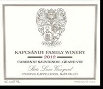 2008 Kapcsandy Family Winery Cabernet Sauvignon State Lane Vineyard Yountville