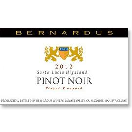 2012 Bernardus Pinot Noir Pisoni Vineyard Santa Lucia Highlands