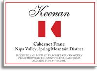 2012 Robert Keenan Winery Cabernet Franc Spring Mountain District