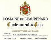 2012 Domaine de Beaurenard Chateauneuf-du-Pape