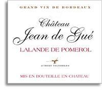 2009 Chateau Jean de Gue Lalande de Pomerol (Pre-Arrival)