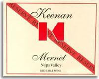 2006 Robert Keenan Winery Mernet Reserve Spring Mountain District