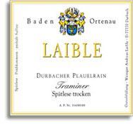 2010 Weingut Andreas Laible Baden Ortenau Durbacher Plauelrain Traminer Spatlese Trocken