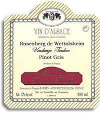 2011 Domaine Barmes-Buecher Pinot Gris Rosenberg Vendange Tardive