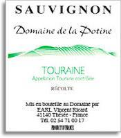 2011 Domaine Vincent Ricard Potine Sauvignon Blanc Touraine