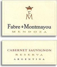 2012 Fabre Montmayou Cabernet Sauvignon Reserva Mendoza