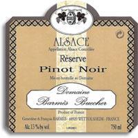Vv Domaine Barmes Buecher Pinot Noir Reserve