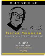 2010 Dutschke Oscar Semmler Shiraz Barossa Valley