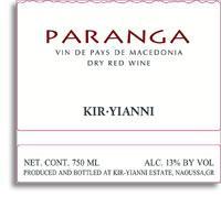 2012 Kir-Yianni Paranga Dry Red