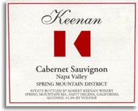 2007 Robert Keenan Winery Cabernet Sauvignon Spring Mountain District Napa Valley