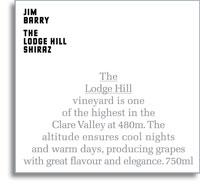 2011 Jim Barry Wines Shiraz The Lodge Hill Clare Valley
