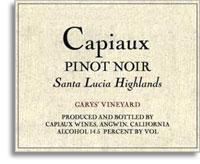 2011 Capiaux Cellars Pinot Noir Garys' Vineyard Santa Lucia Highlands
