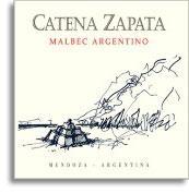 2008 Bodega Catena Zapata Malbec Catena Zapata Argentino Mendoza