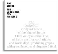 2012 Jim Barry Wines Dry Riesling The Lodge Hill Clare Valley