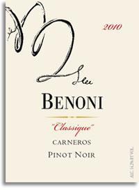 2012 Benoni Pinot Noir Classique Carneros