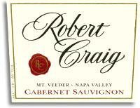 2007 Robert Craig Cabernet Sauvignon Mount Veeder
