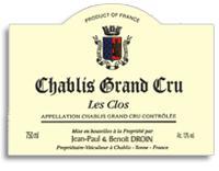 2012 Domaine Jean-Paul & Benoit Droin Chablis Les Clos