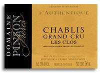 2009 Domaine Pinson Freres Chablis Les Clos Cuvee Authentique