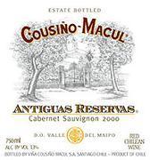 2007 Vina Cousino Macul Cabernet Sauvignon Antiguas Reservas Maipo Valley