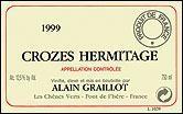 1990 Domaine Alain Graillot Crozes-Hermitage
