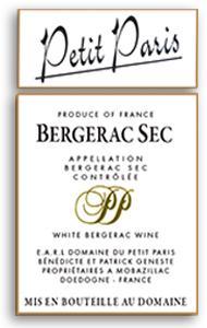 2010 Domaine Du Petit Paris Bergerac Blanc Sec