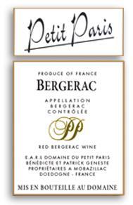2009 Domaine Du Petit Paris Bergerac Rouge