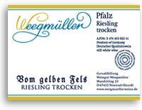 2012 Weingut Weegmuller Riesling Vom Gelben Fels