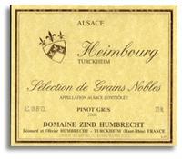 2007 Domaine Zind Humbrecht Pinot Gris Heimbourg Selection De Grains Nobles