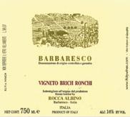 2010 Albino Rocca Barbaresco Vigneto Brich Ronchi
