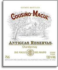 2012 Vina Cousino Macul Chardonnay Antiguas Reserve Maipo Valley