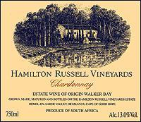 2012 Hamilton Russell Vineyards Chardonnay Walker Bay