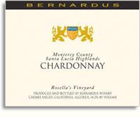 2011 Bernardus Chardonnay Rosella's Vineyard Santa Lucia Highlands Monterey County